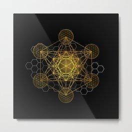 Sacred Geometry Metatrons Cube  Metal Print