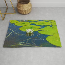 Water Lily and Lily Pads Rug
