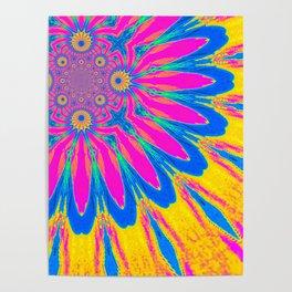 The Modern Flower Rainbow Poster