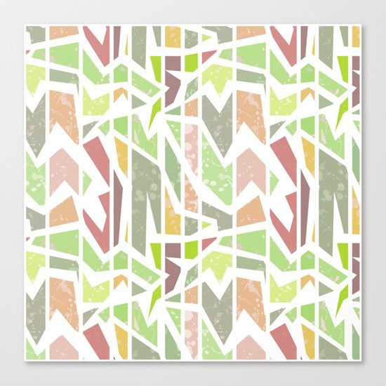Abstract pattern . Geometric shapes . Canvas Print