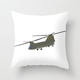 Military CH-47 Chinook Helicopter Throw Pillow