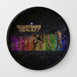 Dancing in the Galaxy, Guardians of the galaxy, Iamgroot Wall Clock