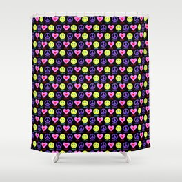Peace Love Smile Pattern Shower Curtain