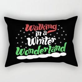 Walking through a Winter Wonderland Rectangular Pillow
