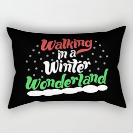 Walking through a Winter Wonderland Rectangular Pillow