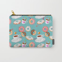 Coffee and Doughnuts Carry-All Pouch