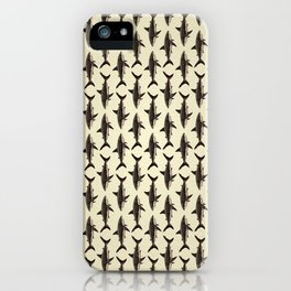 Pattern: Great White Shark ~ Vintage ~ (Copyright 2015) iPhone Case