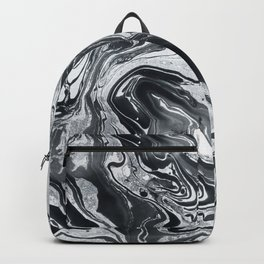 Marble in Black Ink Backpack