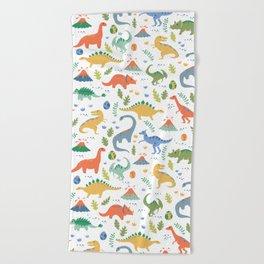 Dinos + Volcanoes Beach Towel