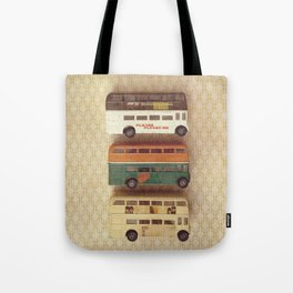 Fab Four Toy Buses Tote Bag
