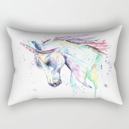Colorful Unicorn Watercolor Painting - Kenzie's Unicorn Rectangular Pillow
