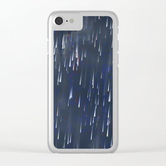 Raining Blue / Autumn 13-10-16 Clear iPhone Case