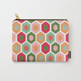 ikat honeycomb tutti fruit #homedecor Carry-All Pouch