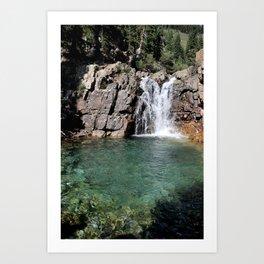 Turquoise Fall Art Print