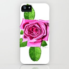 All American Beauty Rose iPhone Case