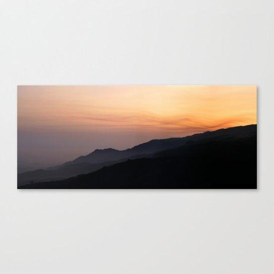 Hillside Sunset Canvas Print