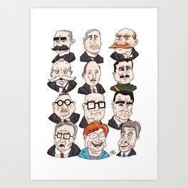Presidents of Finland Art Print