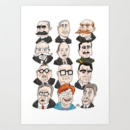 Presidents of Finland Art Print