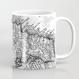 Vintage Map of Jamaica (1771) BW Coffee Mug