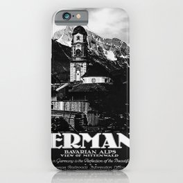 retro noir et blanc Germany iPhone Case