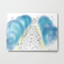Passover Seder (without text) Metal Print