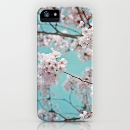 blossoms all over ~ color option teal iPhone Case