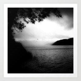 LAKE OF JOUX (CH) Art Print