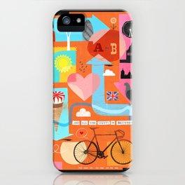 A - B iPhone Case