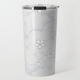 Kumori Nochi Sakura: Gray Travel Mug