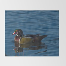 Colorful Wood Duck Throw Blanket
