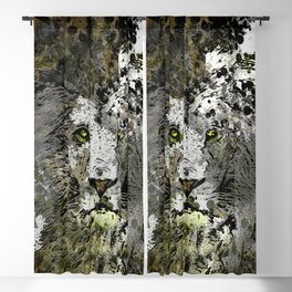LION KING OF BEASTS ABSTRACT PORTRAIT Blackout Curtain