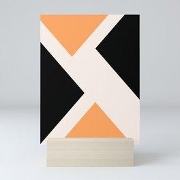 Triangle X #geometrical #illustration #art Mini Art Print