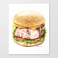 burger Canvas Prints featuring Burger by Creadoorm
