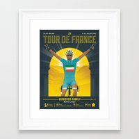 tour de france Framed Art Prints featuring Tour de France 2014 by Matthew Fleming
