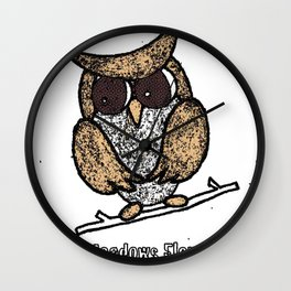 Oak Meadows Owls - Comicesque Wall Clock