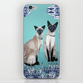 Siamese Cats iPhone Skin