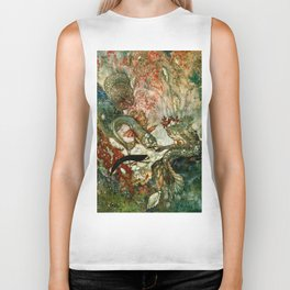 """King of the Mermaids"" Fairy Tale Art by Edmund Dulac Biker Tank"