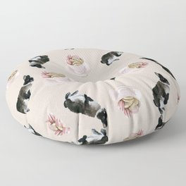 Rex and macaroons pattern Floor Pillow