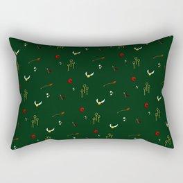 Quidditch Pattern - Slytherin Rectangular Pillow
