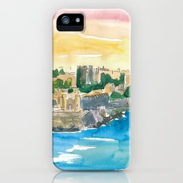 Rhodes Greece Waterfront with Grandmaster Palace iPhone Case