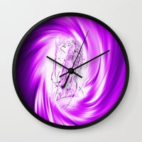 erotic Wall Clocks featuring Space and time 8  Erotic by Walter Zettl