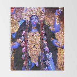 Maha Kali Throw Blanket