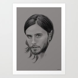 Jared Leto Digital Portrait grey LLFD Art Print