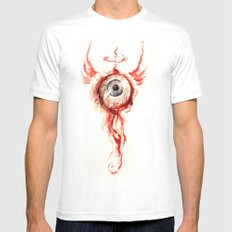 EyeBall White SMALL Mens Fitted Tee