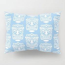 Tiki Pattern Light Blue Pillow Sham