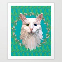 Odd-Eyed Art Print