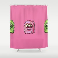 furry Shower Curtains featuring Furry 2 by Keyspice
