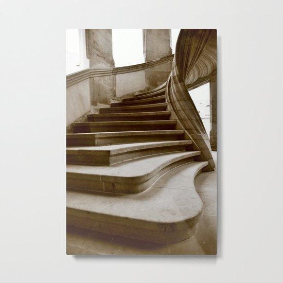Sand stone spiral staircase 7 Metal Print