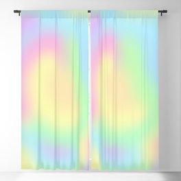 Soft Pastel Rainbow Gradient Design! Blackout Curtain