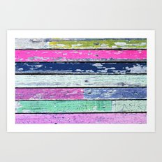 color grunge wood Art Print